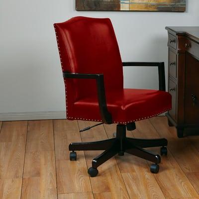 kursi kerja kayu modern