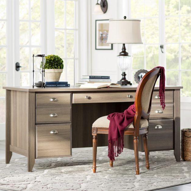 meja kantor + kursi