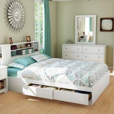 tempat tidur minimalis puih