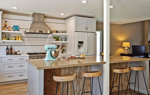 Desain Dapur Minimalis Sederhana yang Menyatu