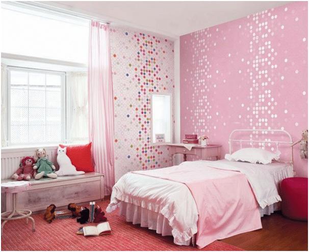 kamar tidur anak pink