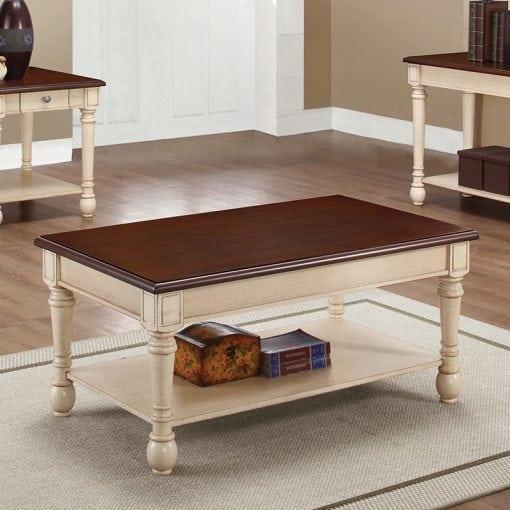 meja tamu kayu minimalis