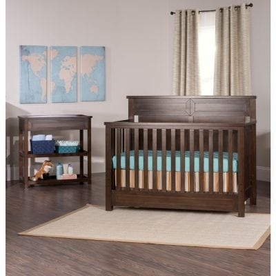 set tempat tidur bayi jati + baby tafel