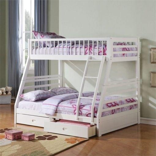 tempat tidur tingkat putih joy