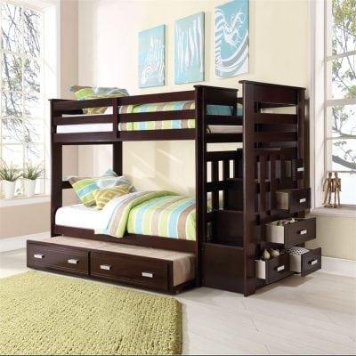 Tempat Tidur Anak 3 Tingkat Jati