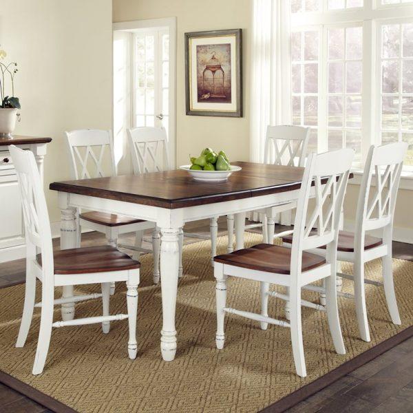 set meja makan 6 kursi modern
