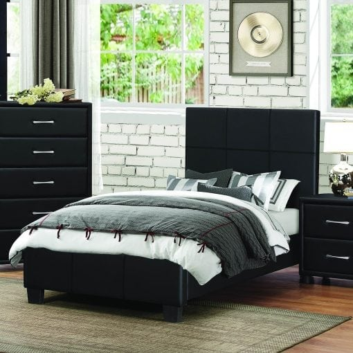 set tempat tidur anak minimalis black