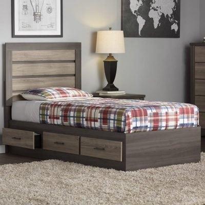 tempat tidur anak kayu