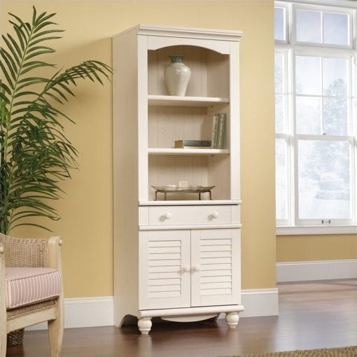 lemari buku minimalis kayu