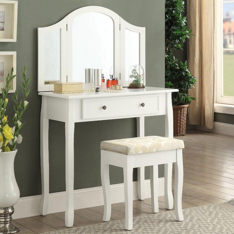 Meja Rias Minimalis Putih Modern – Jepara Heritage