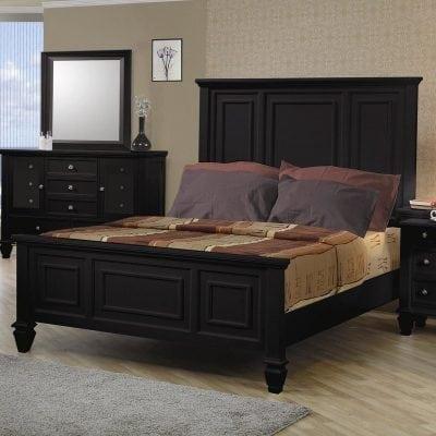 Set Tempat Tidur Jati Minimalis Modern