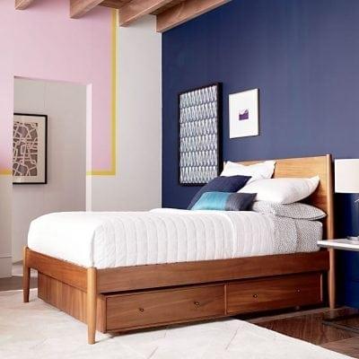 Tempat Tidur Jati Minimalis Berlaci