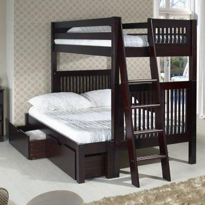 Satu Set Tempat Tidur Tingkat Jati
