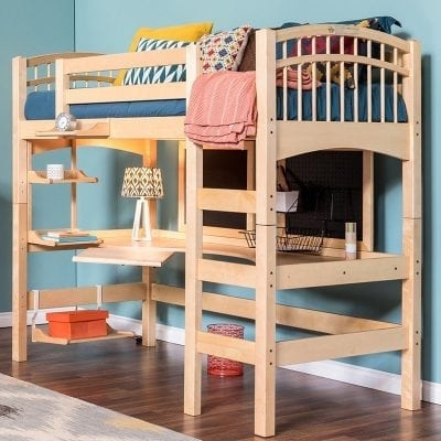 Tempat Tidur Tingkat Jati Minimalis Simpel