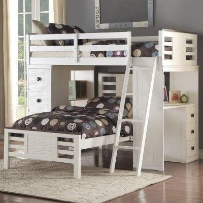 Tempat Tidur Tingkat Plus Meja Belajar