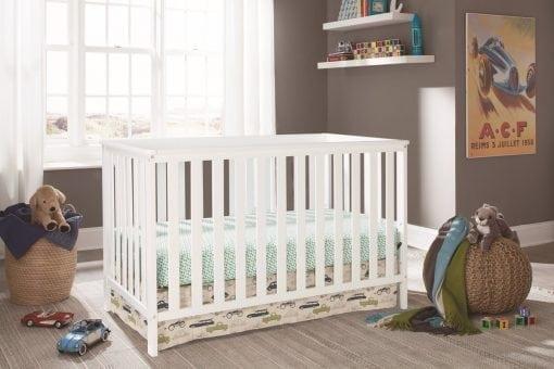 Tempat Tidur Anak Bayi Cat Duco Putih (2)