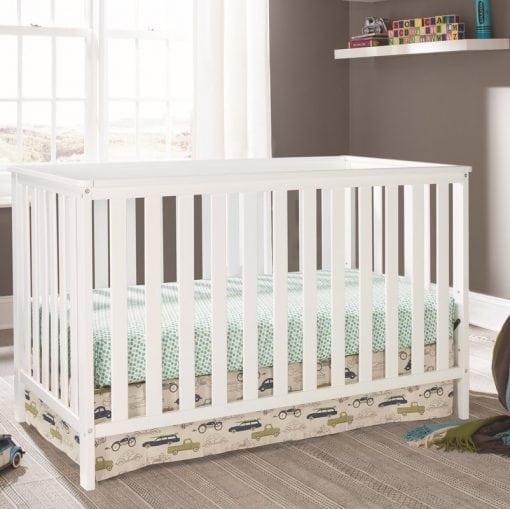 Tempat Tidur Anak Bayi Cat Duco Putih
