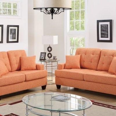Kursi Tamu Sofa Warna Orange