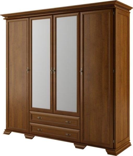Lemari Pakaian Empat Pintu Kaca Cermin (2)