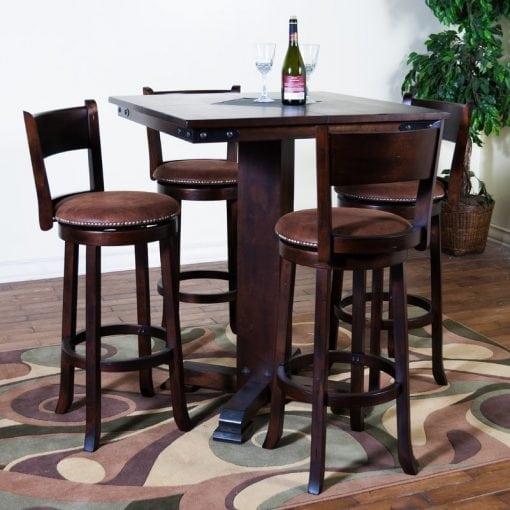 Satu Set Meja Makan Bar 4 Kursi