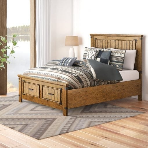 Tempat Tidur Jati Gaya Rustic (2)