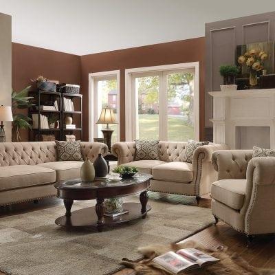 Satu Set Kursi Tamu Sofa Elegant