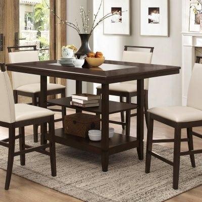 Satu Set Meja Makan Modern