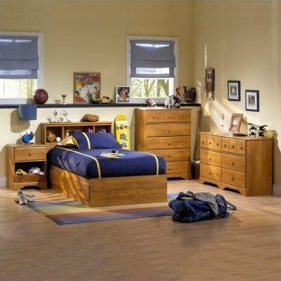 Set Tempat Tidur Anak Kayu Jati Asli
