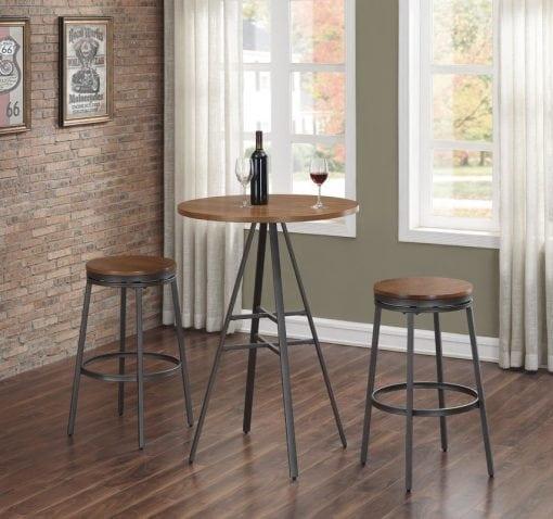 1 Set Meja Makan Cafe Industrial Furniture