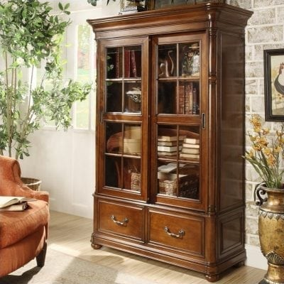 Lemari Buku Kayu Jati Furniture