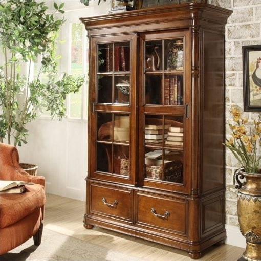 Lemari Buku Kayu Jati Furniture