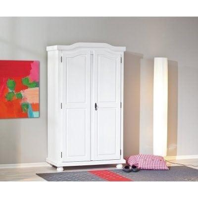 Lemari Pakaian Dua Pintu Warna Putih