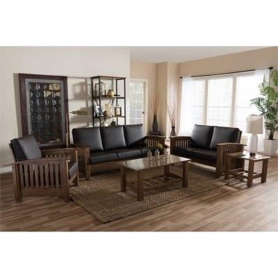 Satu Set Kursi Sofa Tamu Jati