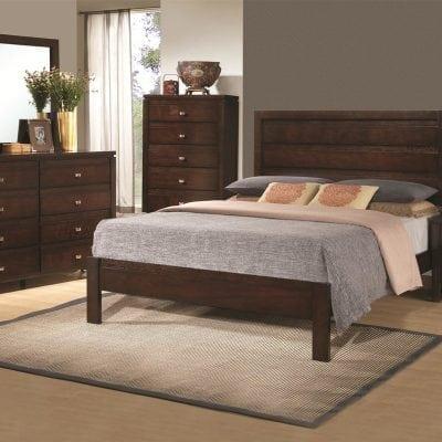Satu Set Tempat Tidur Jati