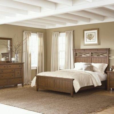 Satu Set Tempat Tidur Pengantin Jati