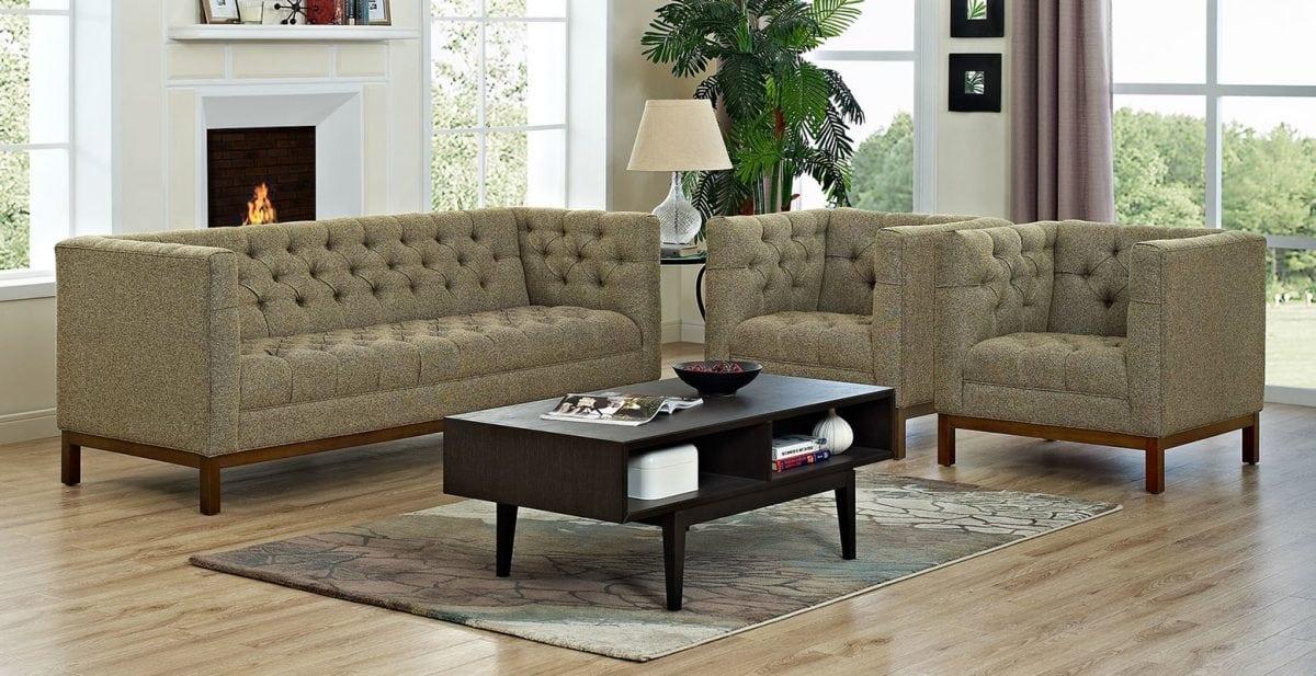 Jual Set Kursi Tamu Sofa Retro Modern Harga Murah