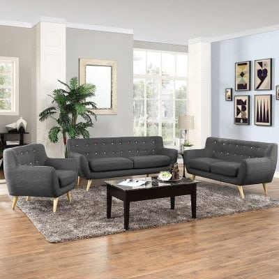 Set Kursi Tamu Sofa Ruang Tamu Model Retro