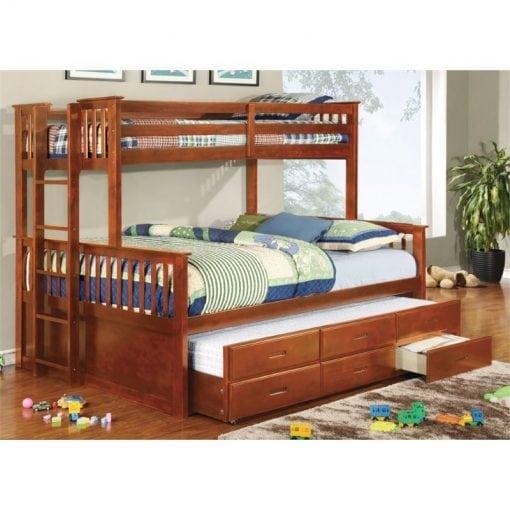 Tempat Tidur Tingkat Laci Multifungsi