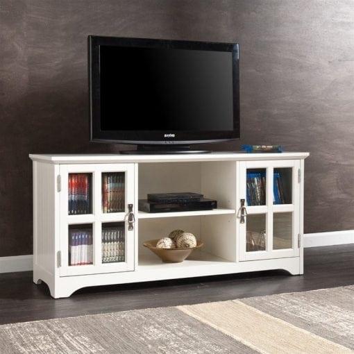 Meja TV Cat Duco Putih Minimalis