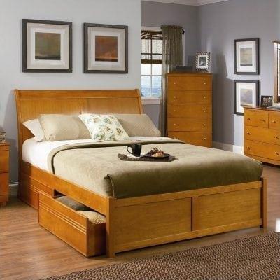Tempat Tidur Jati Model Laci