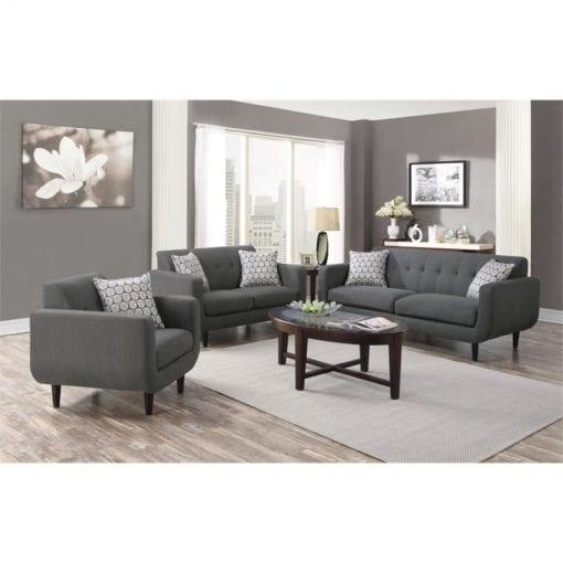 Satu Set Sofa Tamu Minimalis Retro
