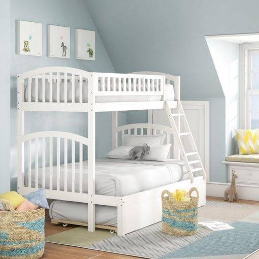 Tempat Tidur Tingkat Cat Duco Putih