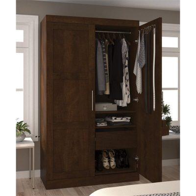 Lemari Pakaian Jati Minimalis Dua Pintu