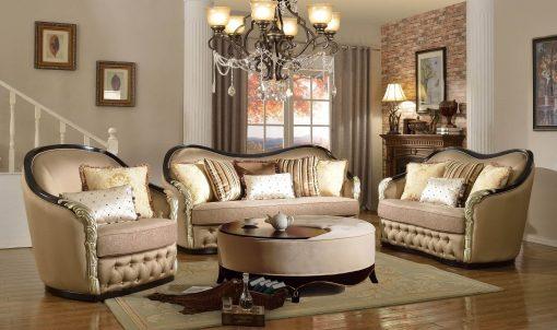 Satu Set Sofa Tamu Sudut Lengkap