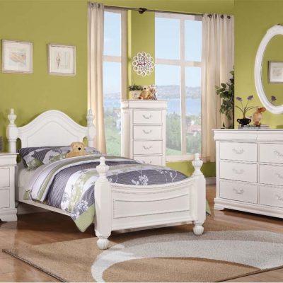 Set Kamar Tidur Anak Cat Duco Putih